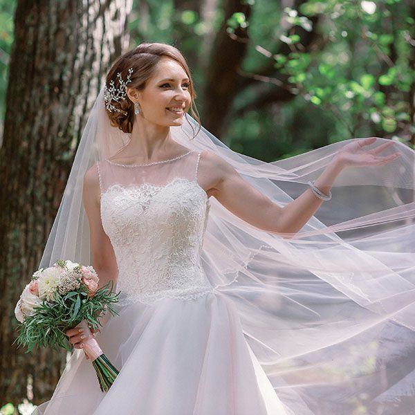 Moscow, Russia. Summer 2015. Classic wedding.